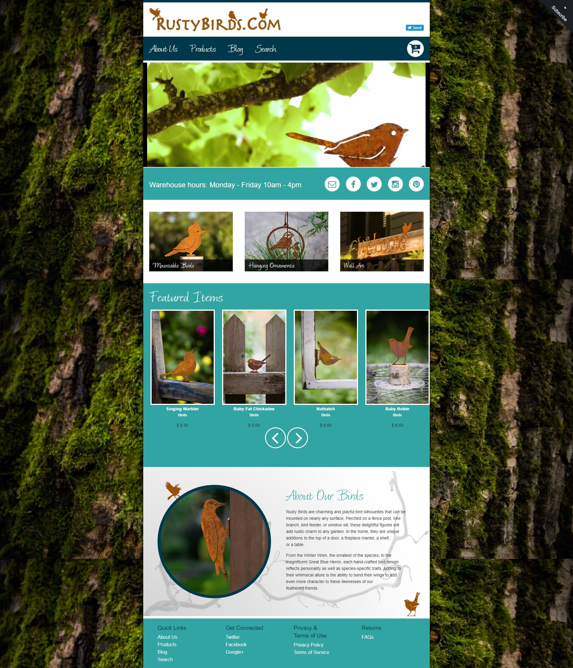 Rusty Birds website redesign by Suffolk County Webmasters